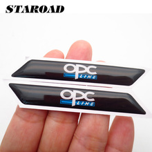 STAROAD 2pcs/set Small Car Styling Stickers For Opel OPC Audi Sline Nissan Nismo Toyota TRD Auto body Internal Decor Accessories