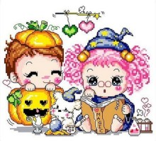 Embroidery Package Hot Sell Best Quality Cross Stitch Kits Pumpkin Heart Do As Eye Glass Magic Free Shipping(China)