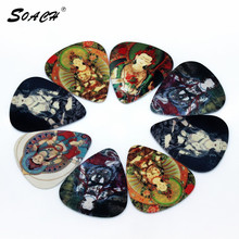 SOACH 10pcs/Lot 0.71mm thickness guitar strap guitar parts Chinese Buddhism Buddha design guitar picks(China)