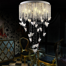 SHIXINMAO LED Crystal Apple 6 new living room ceiling rectangular bedroom study stainless steel crystal ceiling lamp(China)