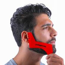 Good quality Z shape beard shaper whiskers sidebums comb beard styling template as facial hair shaping tool drop ship