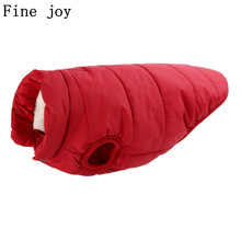 Fine joy 1pcs Pet Clothes Cat Dog Coats Jackets Warm Cotton Winter Coat Pet Clothing  For Teddy Bichon Chihuahua