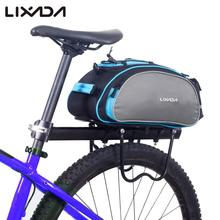Cycling Bag Lixada 13L Bike Rear Rack Bag Bicycle Shelf Utility 10~20L Pocket Shoulder Bag Pack Riding Supplies 2 Colors