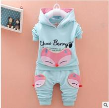 Retail!children clothes to 2017 spring autumn baby boy and girls clothing suit,  baby jacket + pants 2 piece suit ,free shipping