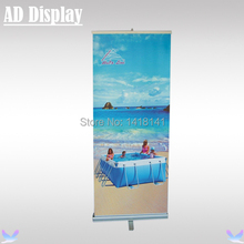 80*200cm High Quality One Foot Aluminum Easy Pull Up Banner,Portable Roll Up Stand,Tradeshow Roller Banner(Only Stand)(China)