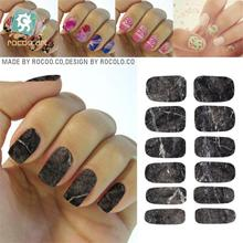 K5737 2016 New Water Transfer Nail Foil Sticker Art Sexy Black Gray Carbon Marble Stone Rock Nail Wraps Sticker Manicure Decals(China)