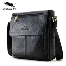 CROSS OX New Fashion Cowhide Man Messenger Bags Genuine Leather Male Cross Body Bag Casual Men Commercial Briefcase Bag SL232M(China)