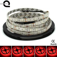Quadruple Hot Sale DC 12V 300LED 5M LED Strip Waterproof LED Strip Light 5050 Red Flexible Neon Lamp Tiras LED Light Tape(China)