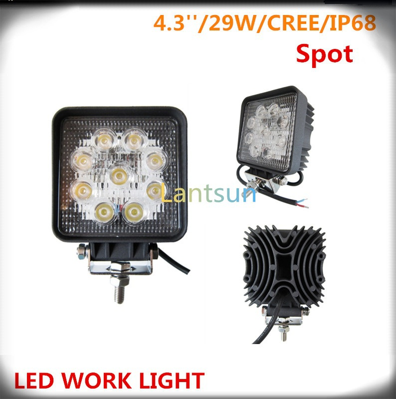 Pair  9pcs 3w 6000k 10~30v 4 27w Led driving light  for cars offroad <br><br>Aliexpress
