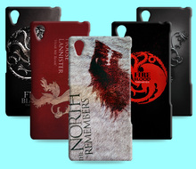 Ice and Fire Cover Relief Shell For Xperia arc S X12 Cool Game of Thrones Phone Cases For Sony Xperia M4 Aqua Z2 L50W