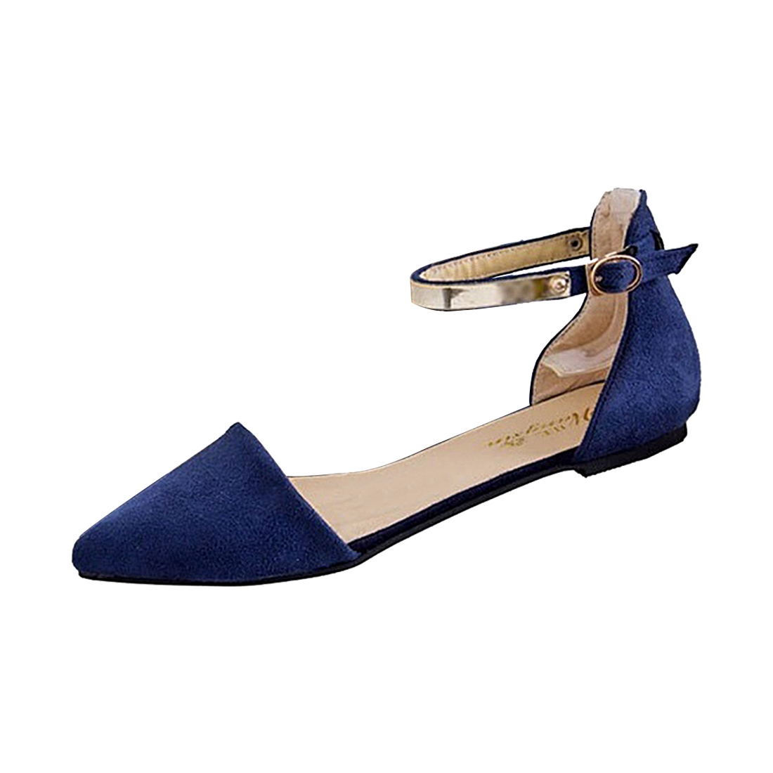 Woman Shoes Spring Summer Pointed Toe suede Flats Soft Fashion Brief sandals Blue US6<br><br>Aliexpress