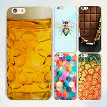New fashion Honey Pineapple beer Chocolate series hard clear mobile phone Cases for Apple iPhone 7 6 6s Plus SE 4s 5 5s 5c(China)