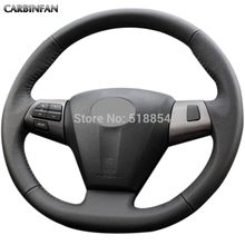 Black Artificial Leather Car Steering Wheel Cover for Toyota Corolla 2011 2012 2013 RAV4 2011 2012