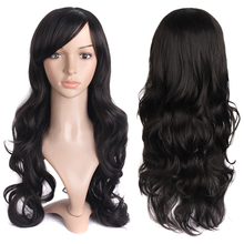 Promotion Women Fashion Lolita Curly Wave Long Heat Resistant Cosplay Wig Party light brown/dark brown/black Full Hair Perruque