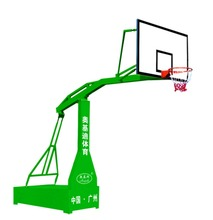 AJD-L-006 plain box copying hydraulic with organic transparent basketball board training competition mobile basketball stand(China)