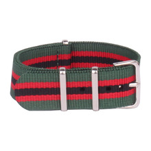 Buy 2 Get 20% OFF) 16mm Army Green Red Military Sports nato fabric Nylon watchband Watch Strap accessories Band Buckle belt