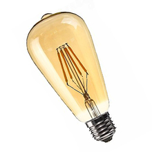 CNIM Hot Dimmable E27 4W =Retro Vintage Filament ST64 COB LED Bulb Light Lamp=(China)