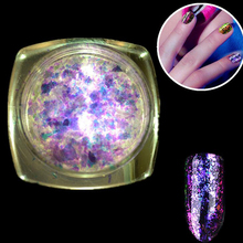 9Colors/ fashion high quality Nail Art Acrylic Powder Glitter Powder Dust For UV Acrylic Powder Decoration nail gel Nail Art(China)