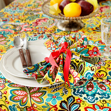 Colorful Says Table Cloth Gladness Plant Flower Round Rectangle Coffee Dining Decor Cover Cotton Canvas Print Tablecloth