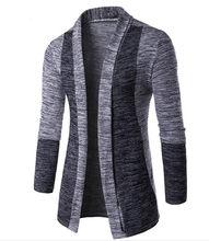 2018 primavera otoño Cardigan hombres suéter manga larga cuello delgado  moda Patchwork Venta caliente de los hombres suéter de G.. 6374f37b5e86