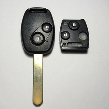 Wholesale 2 Button Remote Key For Honda CRV Accord 433MHZ ID46 Chip With Uncut Blade Fit For 2008-2012 Models High Quality(China)