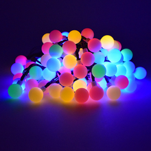 Solar Outdoor String Lights 30 LED Waterproof Ball Christmas Lamps Solar Powered Starry Fairy Light For Garden Yard Home Parties(China)
