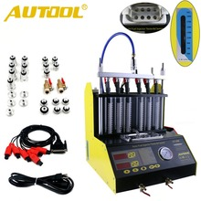 Gasonline 6/4 Cylinder CT200 Car Motorcycle Auto Ultrasonic Injector Cleaning Tester Machine 220/110V Better than Launch CNC602A