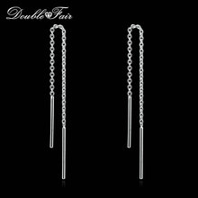 OL Style Long Line Chain Drop/Dangle Earrings Silver/Rose Gold Color Fashion Brand Jewelry Strike Ear Cuff For Women DFE236