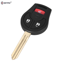KEYYOU 3 2+1 Buttons New Remote Car Key Shell Case Fob For Nissan Cube S SL Rogue