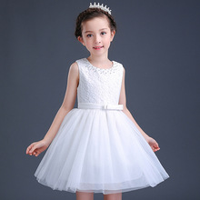 Small Big Kids Teenagers Dresses Dance Party Piano Performance Costumes Disfraces Ninas Summer Clothing Girls Princess Dress