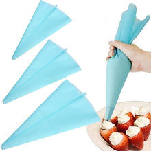 1 X Silicone Reusable Icing Piping Cream Pastry Bag Cake Decorating Tool DIY