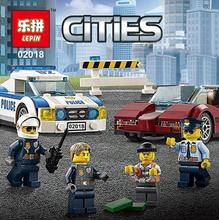 Lepin 317Pcs City Police Series Building Blocks Car Helicopter Model Sets Blocks Assembled Toys Friends for Boy 60138