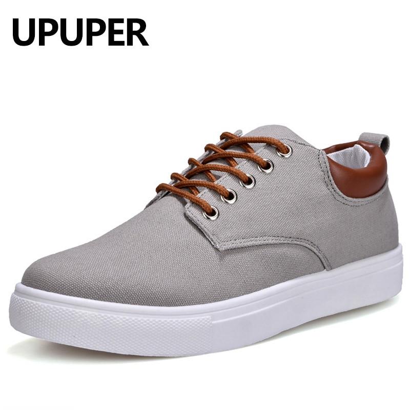 Men Canvas Shoes 2018 Spring Breathable Lace-Up Casual Shoes Men Flats Shoes Big Size 39-47 Zapatos Hombre Black Blue Gray