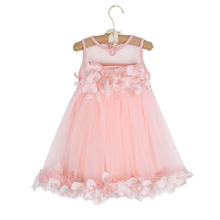 Toddler Kids Baby Girls Summer Princess Mesh Tutu Dresses Flower Sleeveless Birthday Prom Pageant Party Wedding Dresses 1T-6T