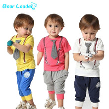 Bear Leader Hot Selling 100% Cotton 2016 Spring-Summer New Arrived Casual Sport Children Baby Boy Sets Kids Suit