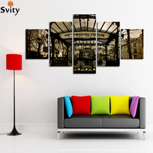 Fashion Black and white style scenery painting canvas print wall art picture for living room bedroom home decoration Unframed A2