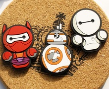 Cartoon Star Wars Kawaii Cute BB8 Darth Maul SpiderMan Decorative Refrigerator Magnetic Souvenir Fridge Decorate Magnets TZ42