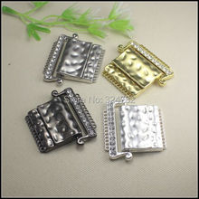 20pcs Mix plated Crystal Rhinestones Belt Buckle Strong Magnetic Clasp for Leather CORD jewelry findings