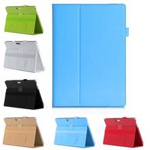 Handheld Genuine Leather Case for Microsoft Surface Pro 4 Retro Business Stand Card Smart Cover for Surface Pro 4 Bags 12.3""