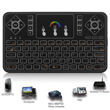 Portable 2.4G Wireless Keyboard Handheld Air Mouse Touchpad Remote Control For Android TV Box PC Smart TV HTPC Tablet Phone EM88