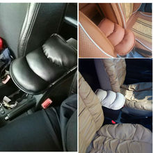 2016 Car Auto Armrests Pads Cover Vehicle Center Console Arm Rest Seat Box Pad Protective Case Soft PU Mats Cushion Universal