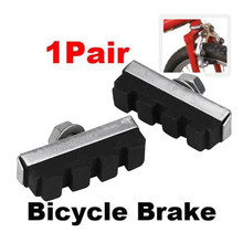 2017 2pc Durable Bicycle Cycling Bike V Brake Holder Pads Shoes Blocks Black camping ciclismo Sports Outdoor Accessories