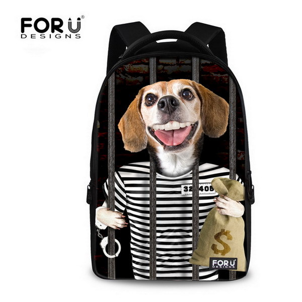 Animal 3D Dog Print  Mens Laptop Backpack 15.6 inch Teenager Student Backpacks Computer Backpack Travel Backpack Retail<br><br>Aliexpress