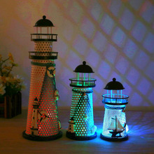 Handcraft Mediterranean Light Changing Beacon Designed Lighthouse Tools(China)