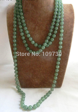 Jewelr 002948 80'' 10mm Round Green Necklace 5.5(China)