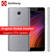 "Global Version Original Xiaomi Redmi Note 4 Qualcomm 4GB RAM 64GB ROM Mobile Phone Snapdragon 625 Octa Core 5.5""FHD FCC CE 13MP(Hong Kong)"