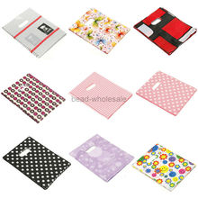 100pcs Pretty Pattern Plastic Jewelry Gift Bag Shopping Bags For Jewelry Box and Package(China)