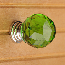 Emerald Green Crystal Glass Furniture Jewelry Box Kids Room Door Used Pull Handle Knobs