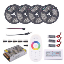 BEILAI 5050 RGB LED Strip Waterproof 5M 10M 15M 20M DC 12V LED Light Strips 60LED/M Add 2.4G RF Touch Controller Power Amplifier