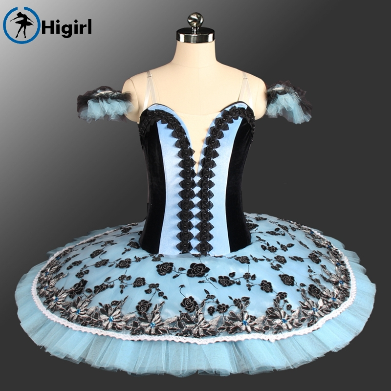 Shipping free! New style Competition Girls Blue black Professional Classical Ballet Tutus adult Women Stage Costume BT9150